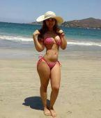 En la playa, muy buena