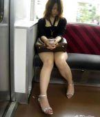 Japonesa en minifalda
