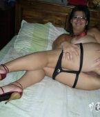 La esposa muestra su coño