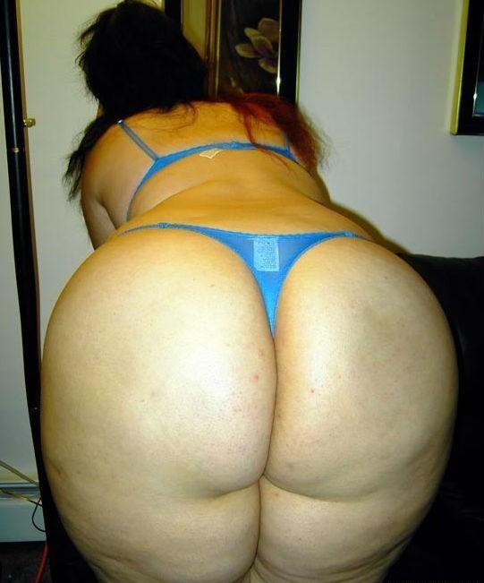 Gorda culona en tanga amateur